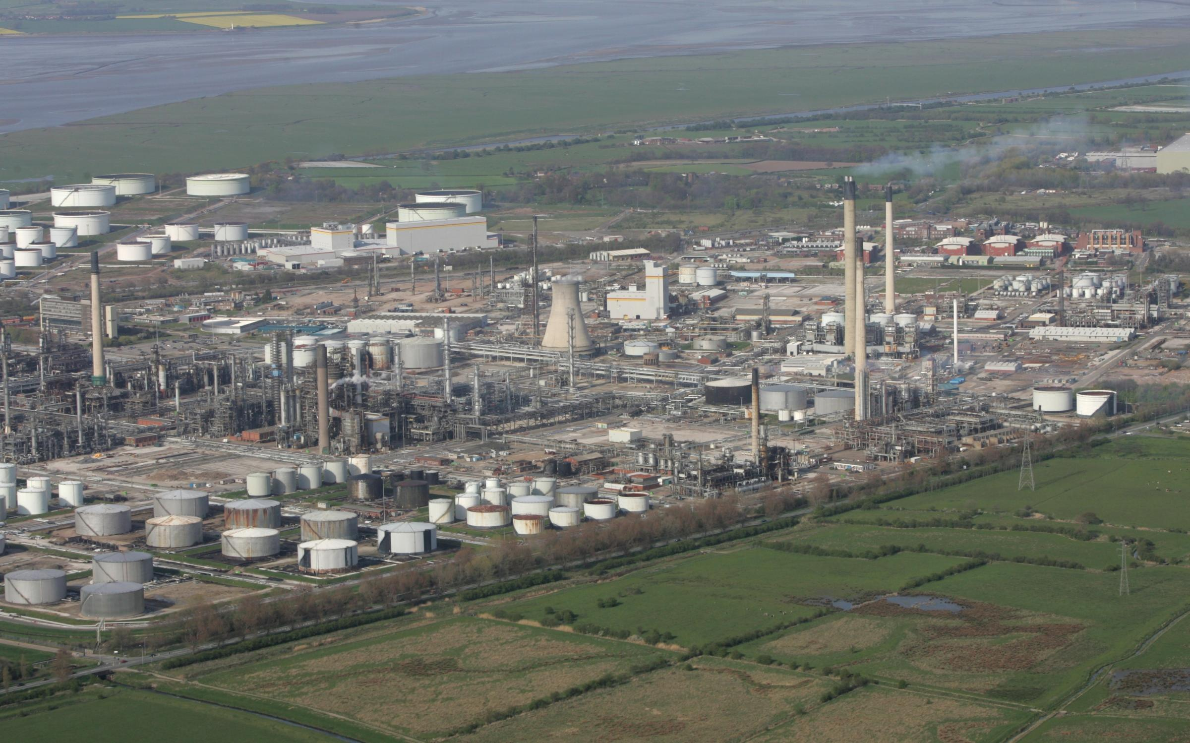 The Essar oil refinery at Stanlow, Ellesmere Port.