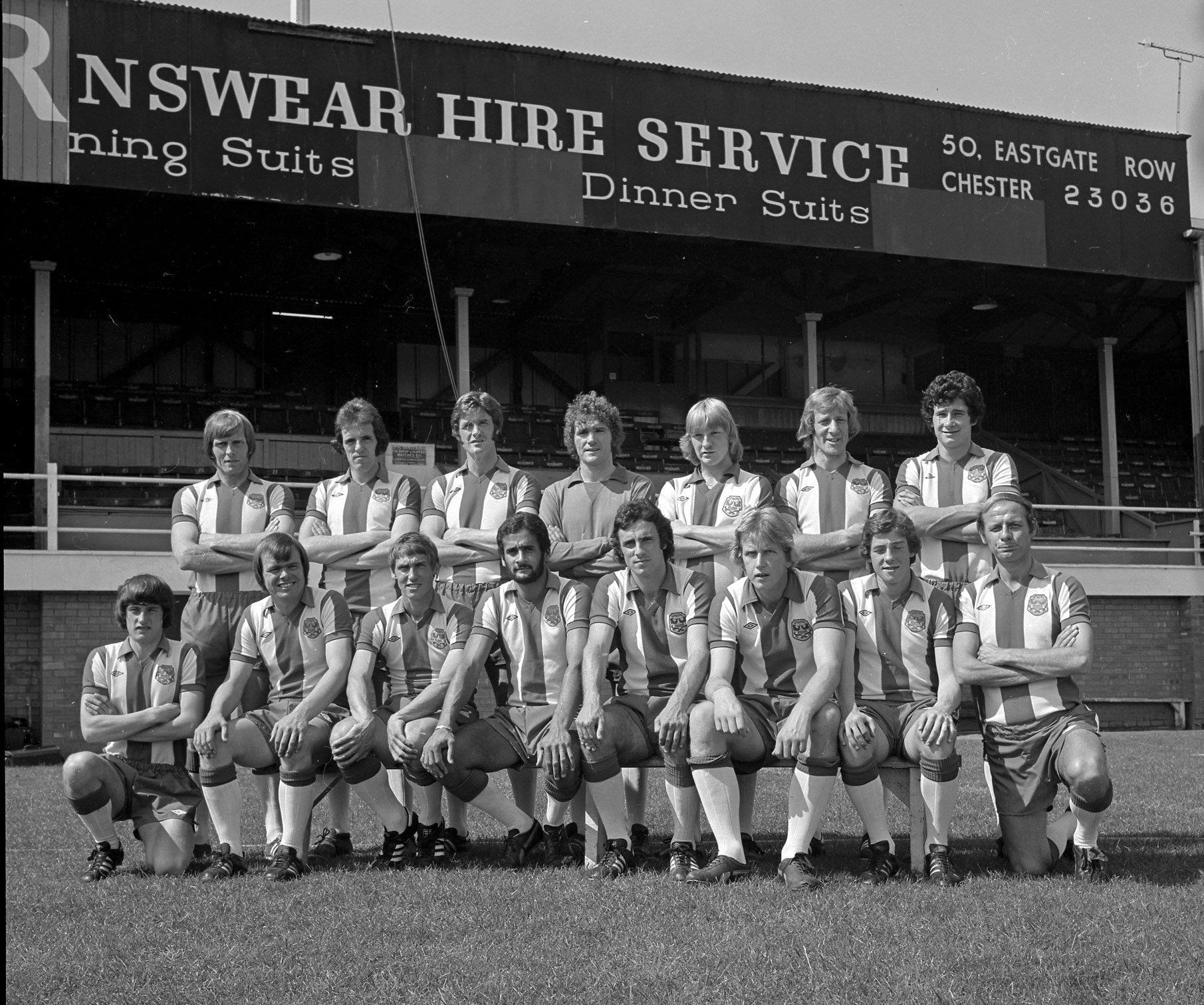 Chester FC's 1977/78 squad, which Alan Oakes led to fifth in the old Division Three.