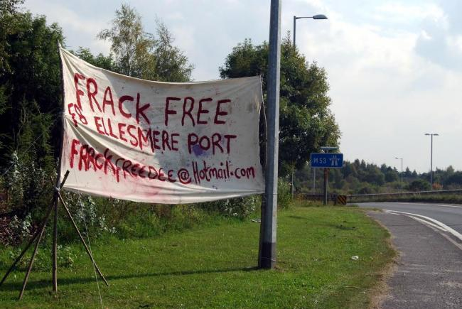 Anti-fracking campaigners have made their feelings known in Ellesmere Port.