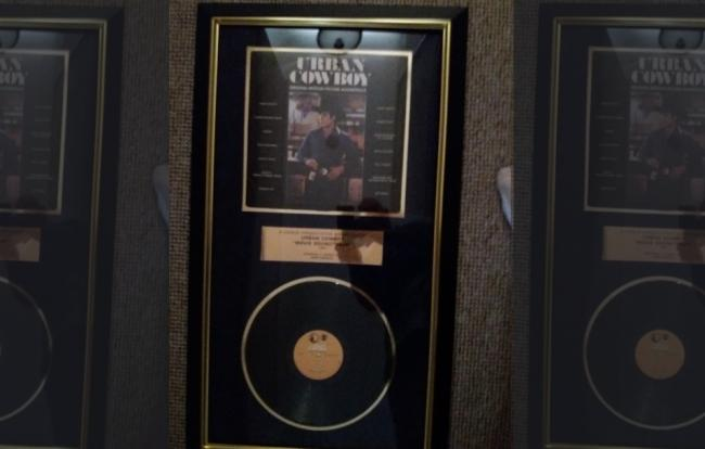 The stolen signed and framed vinyl albums all looked like this
