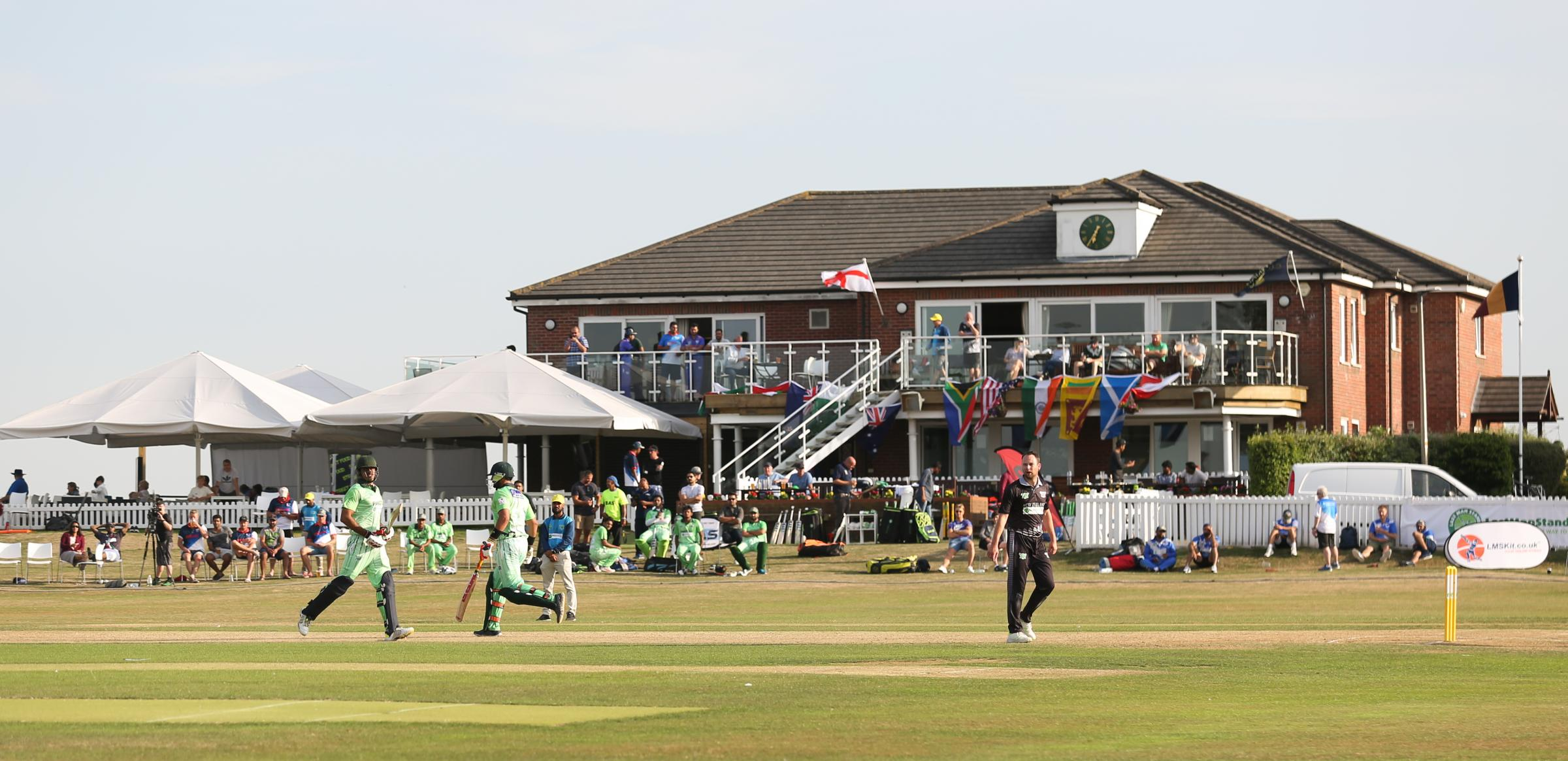 Chester Boughton Hall Cricket Club host the LMS World Series. Pic: Pakistan bat against New Zealand  GA070818A.