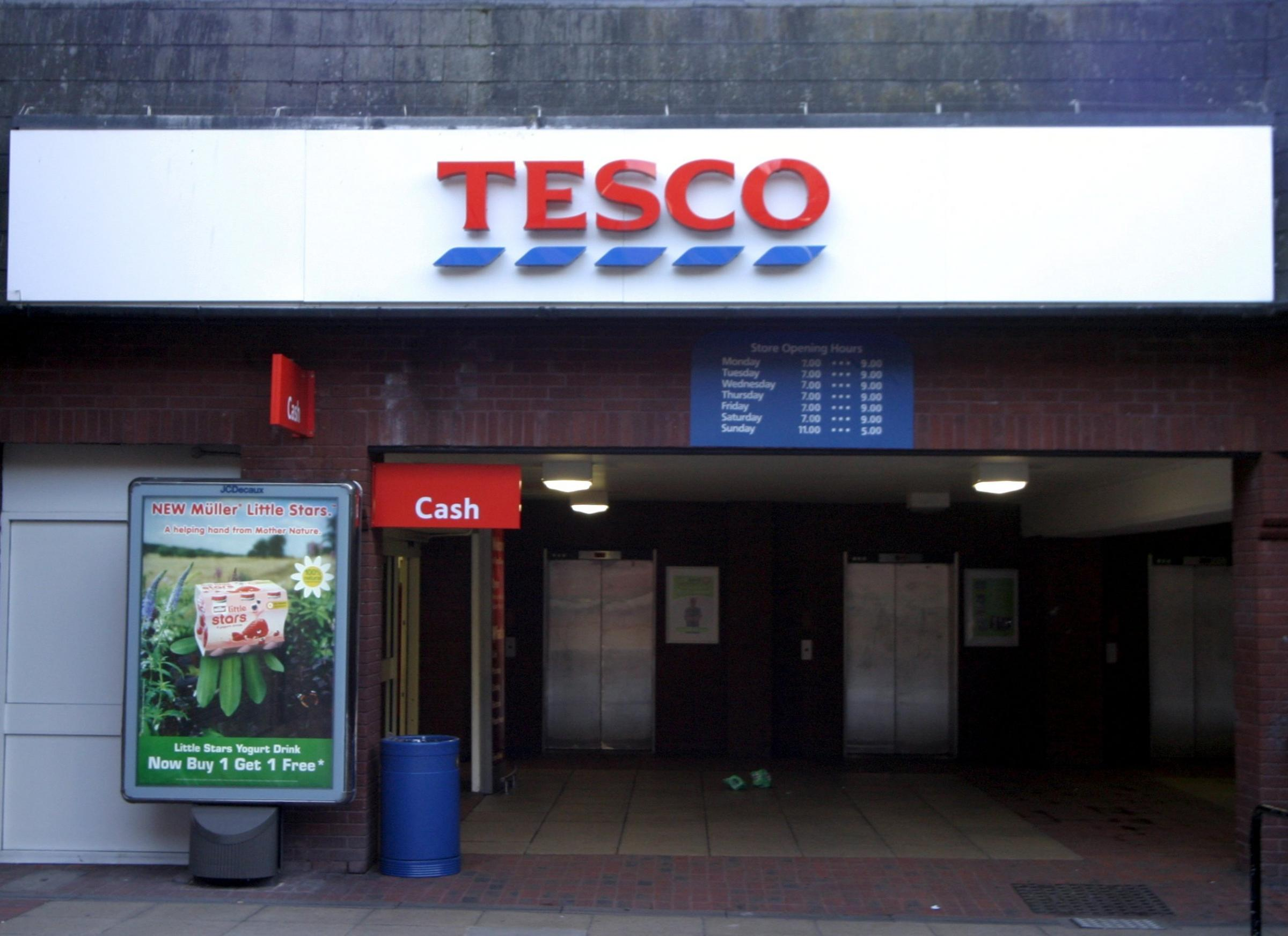 Tesco on Frodsham Street, Chester.