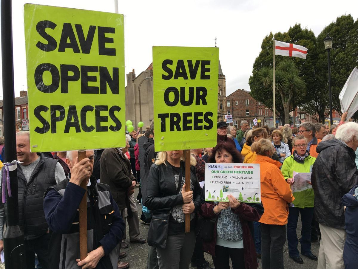 Huge protest against controversial Wirral green belt proposals as council slammed
