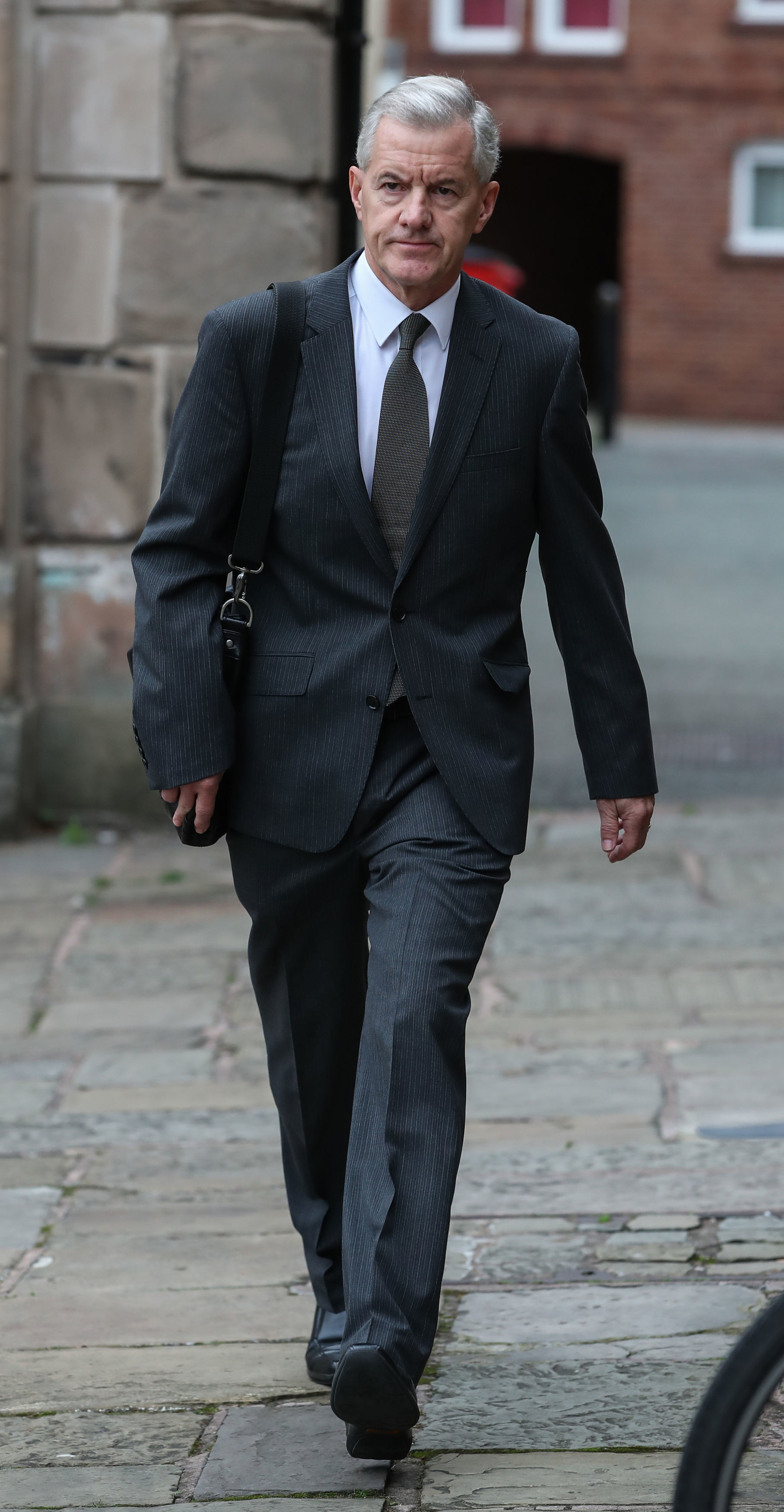 Paul McCann, a former football coach at Crewe Alexandra, arrives at Chester Crown Court. Picture: Peter Byrne/PA Wire.