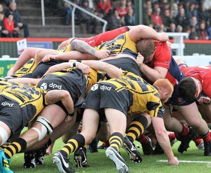 Chester in action at the scrum. Photo:PAUL BEST