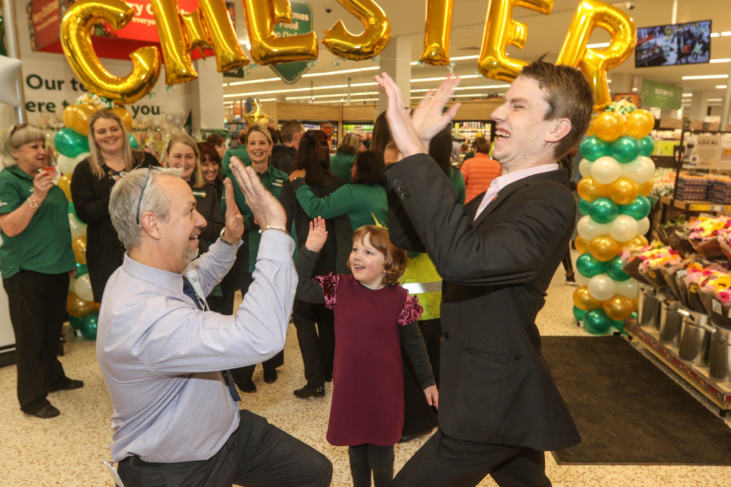 Erin and Sam help launch Chester's revamped Morrisons supermarket