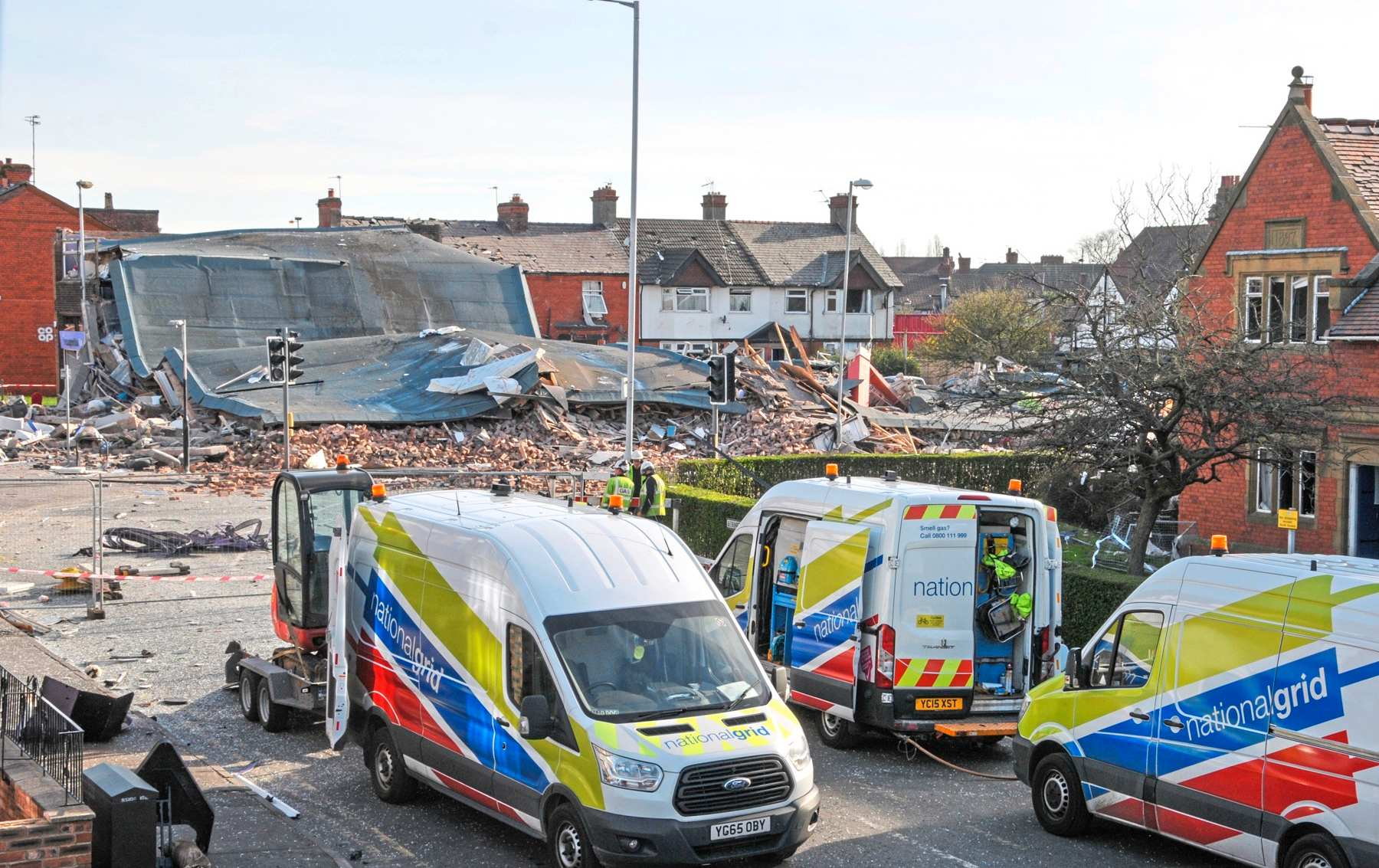 Picture of the explosion aftermath at New Ferry