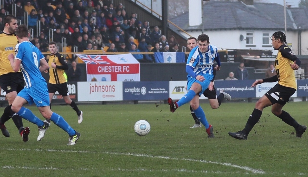 ACTION: Southport v Chester. Pictures: TERRY MARLAND