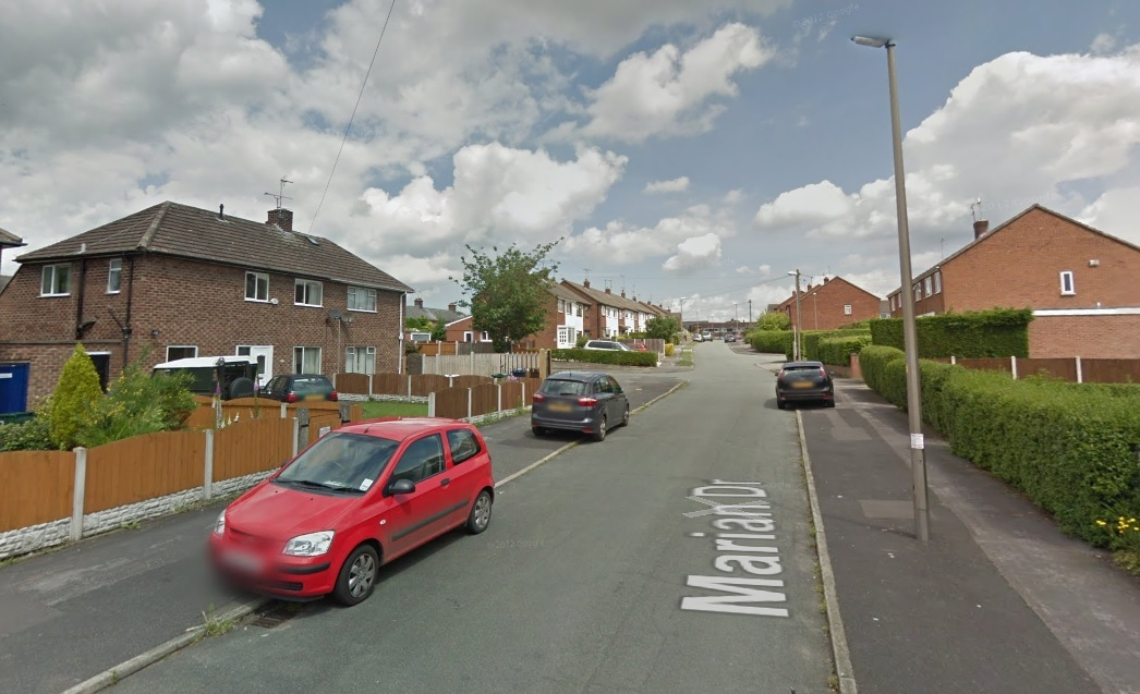 Marian Drive, Great Boughton. Image from Google Street View.