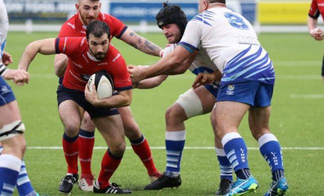 Action from Chester's victory over Peterborough Lions at Hare Lane. Photo:PAUL BEST.