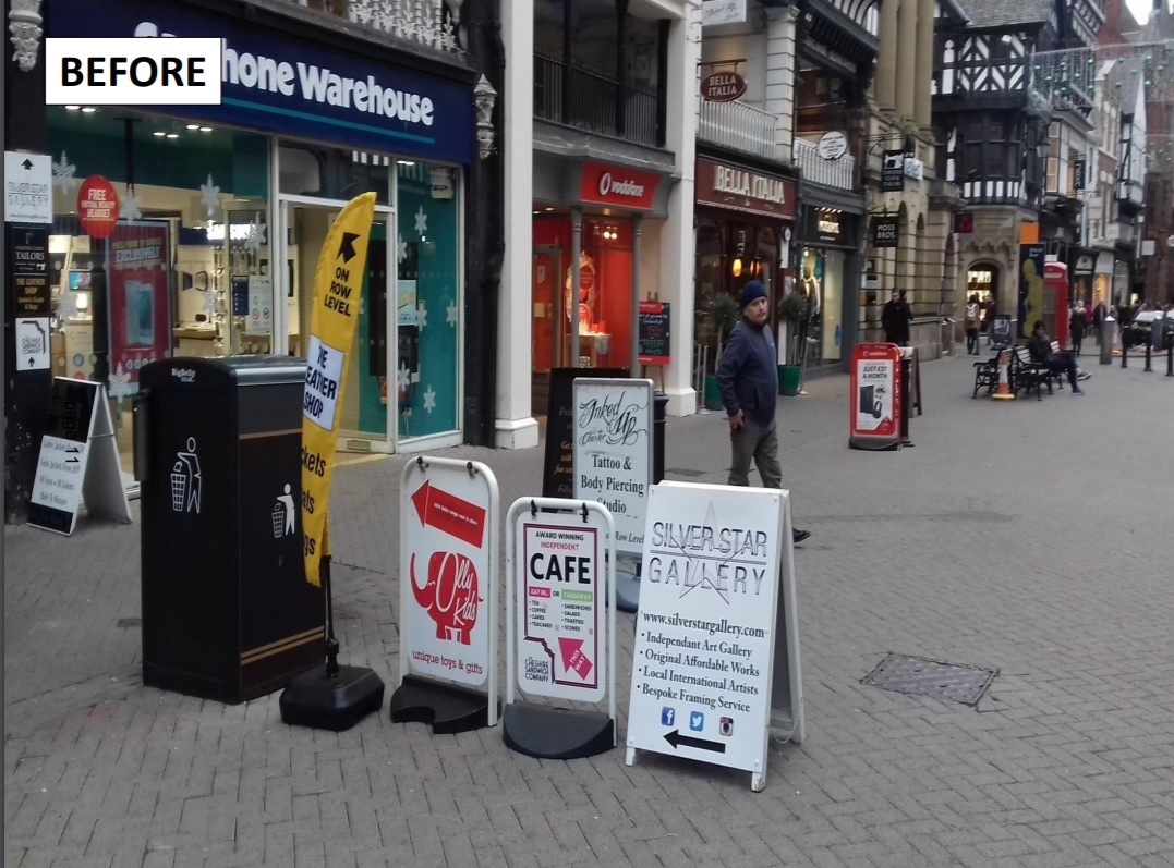 Chester city centre before the restrictions on A-boards