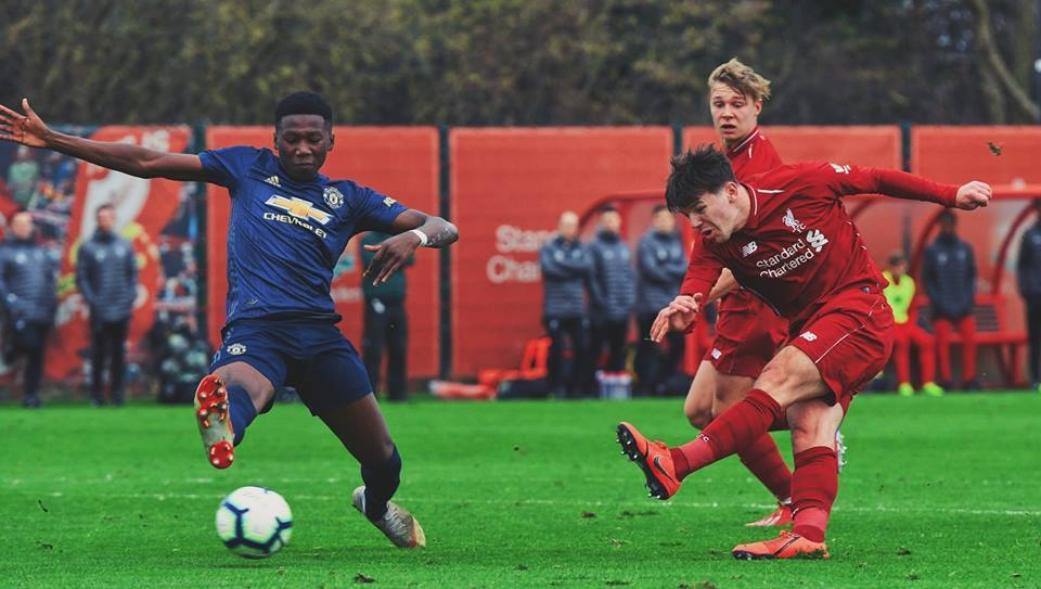 Liverpool FC u18s in action