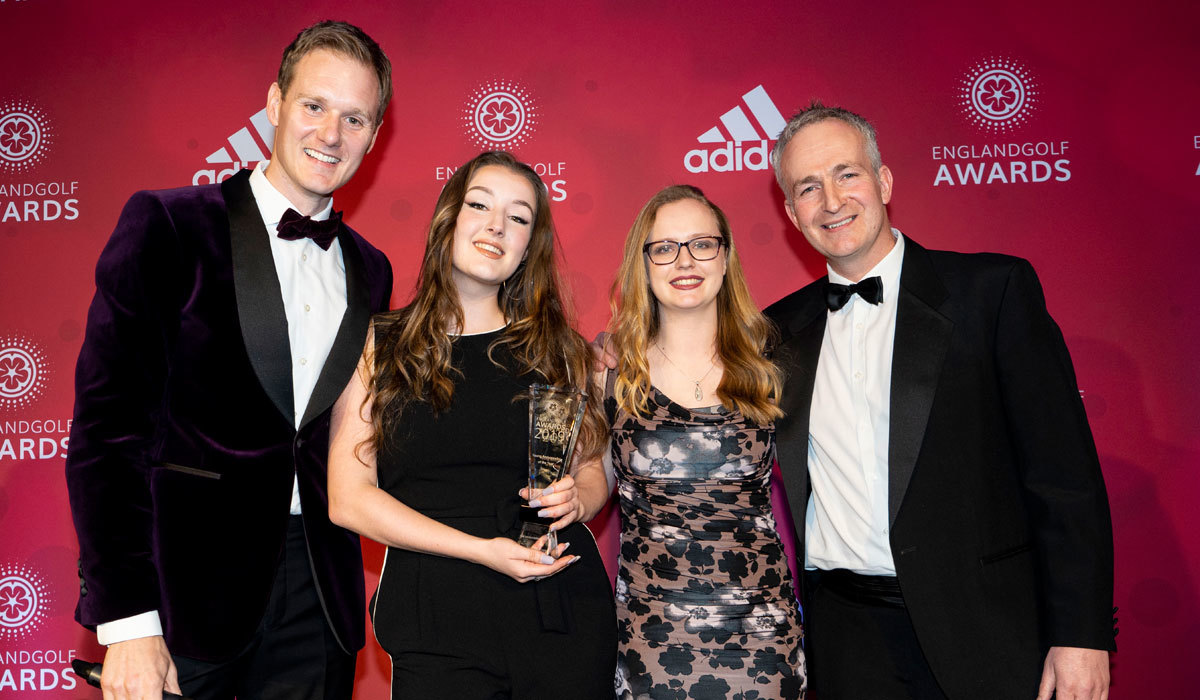 Caption (from left): Awards host Dan Walker, Louise McLoughlin, Emma Anderson and Brendon Pyle.