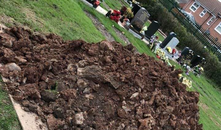 Council slammed for dumping earth on dad's grave in Ellesmere Port