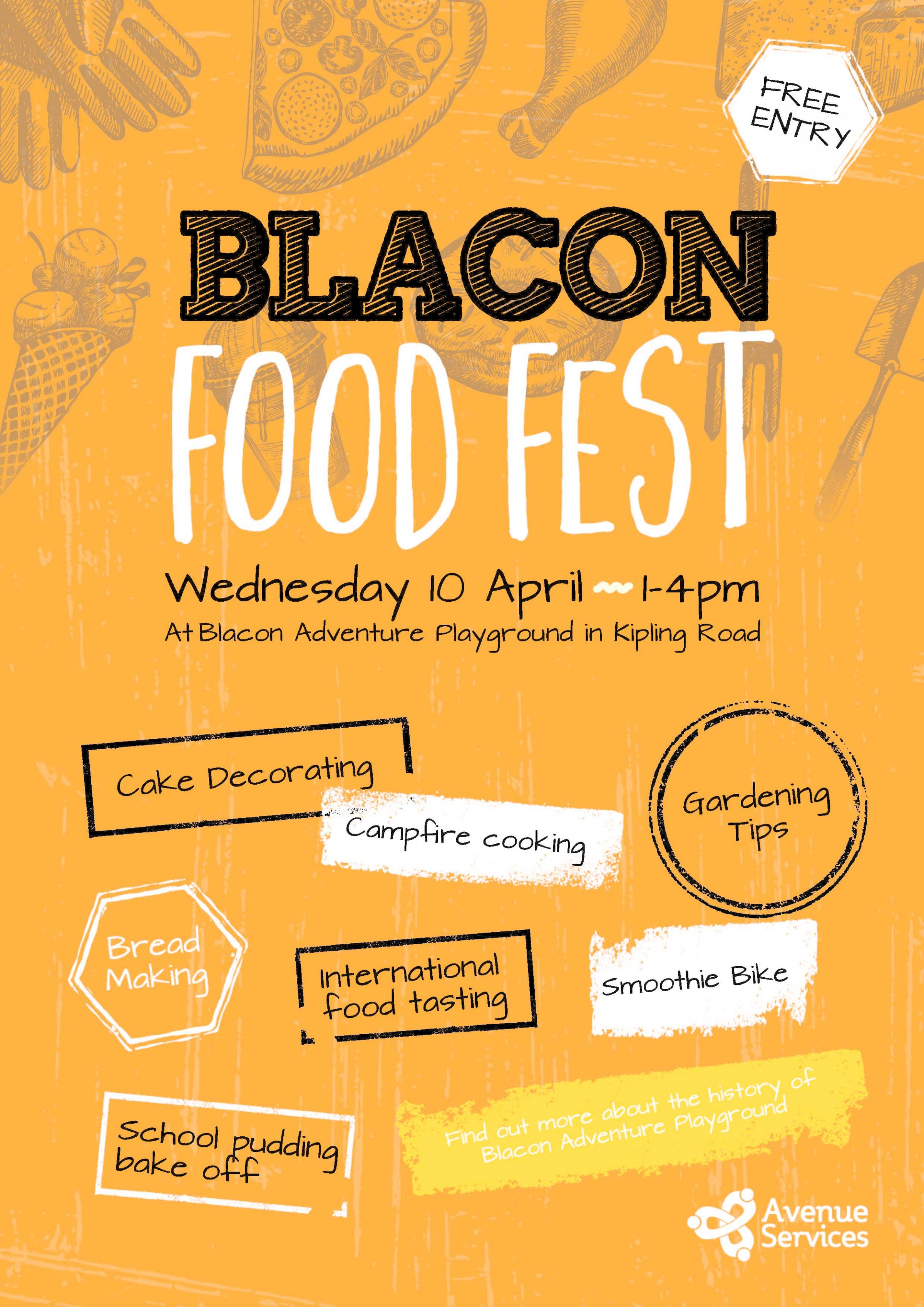 Blacon Food Festival to feature cake decorating, smoothie bike and campfire cooking