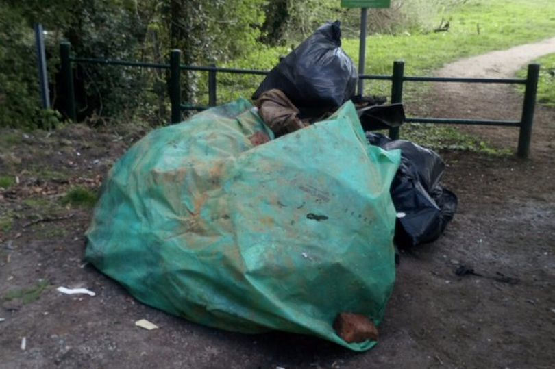 Rubbish dumped in Blacon. Photo: Cheshire Police