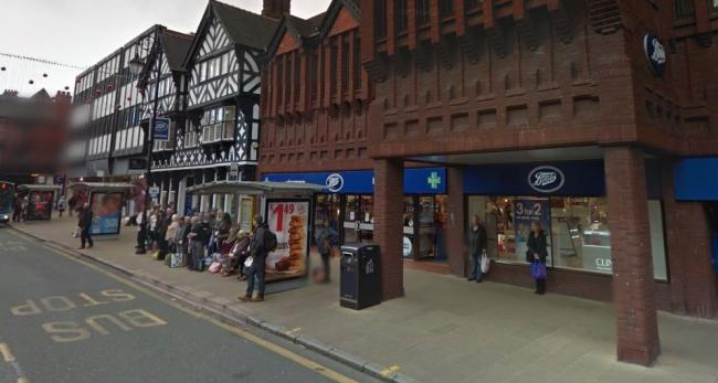 Boots on Foregate Street, Chester. Image from Google Street View.