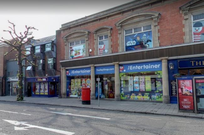 The Entertainer store on Foregate Street (Image / Google StreetView)