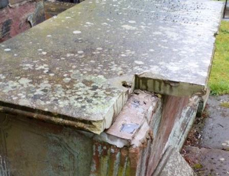 Disgusting criminals cause damage at historic St John the Baptist's Church in Chester in attempt to gain access to tomb