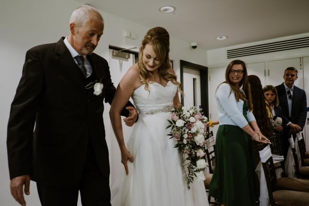 Chester and District Standard: John with his daughter on her wedding day