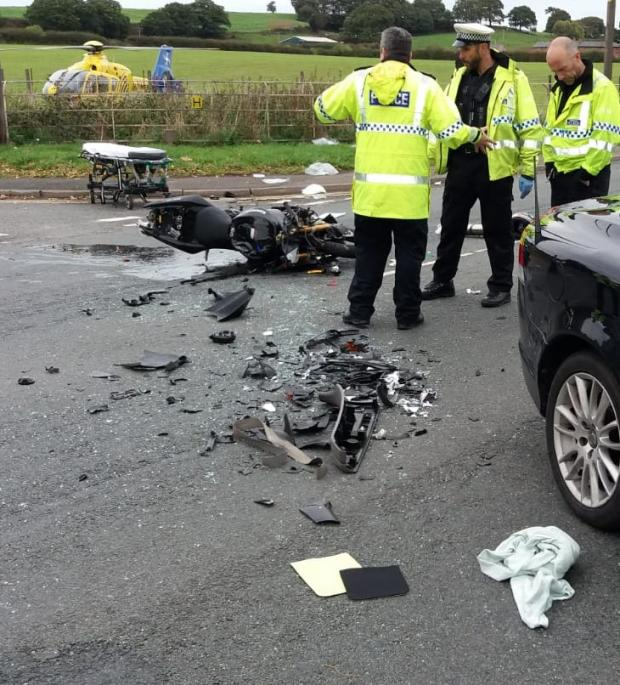 Chester and District Standard: The scene after the crash