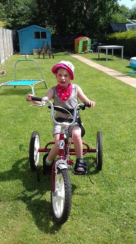 Chester charity helps Olivia cycle with her family thanks to specially adapted trike