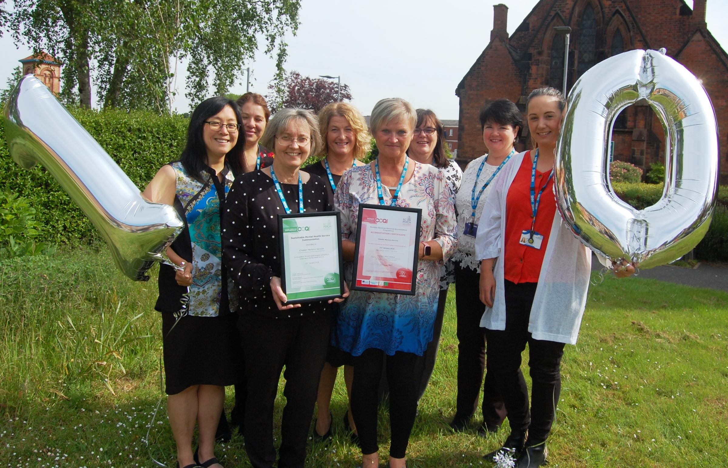 Older people's memory service with clinics in Chester and Ellesmere Port wins award for 10th consecutive year