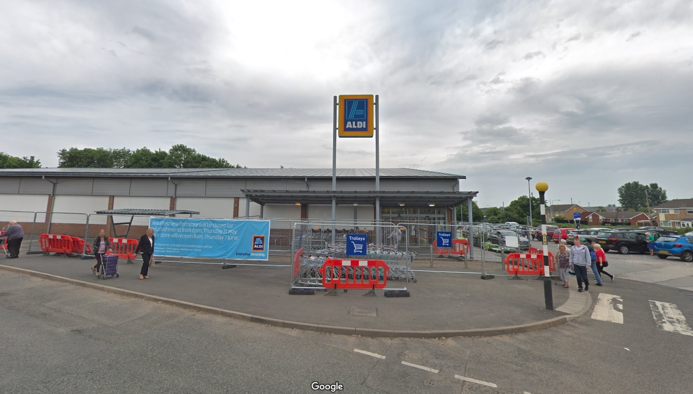 Ellesmere Port: Man spat towards Aldi manager who accused him of shoplifting